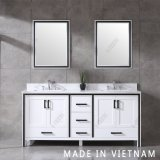 72inch White Cabinet Double Sinks Free-Standing Bathroom Vanity Single Sink