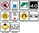 Reflective Plastic Aluminum Prohibit Reflective Traffic Control Warning Safety Road Sign