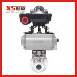 Stainless Steel Hygienic Clamp Actuator Butterfly Valve with Solenoid Valve