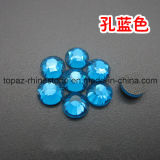 Good Sell DMC Blue Zircon Hotfix Crystal Flat Back Hot Fix Rhinestone for Dress (HF-ss20 blue zircon /3A)
