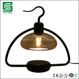 Decorative Metal Table Lamp LED Stand Light with Glass Cover and Dimmer