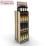 Pop up 3 Layer Shelf Liquor Dispenser Wine Display Cabinet