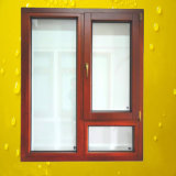 Single Pane Opening Style Aluminum Wood Window with Fixed Panes