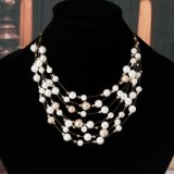 Jewelry Gold Color Multilayer Chain Imitation Pearls Necklaces for Women