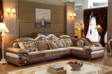 Modern European Living Room Leather and Fabric Couches
