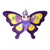 Custom Made Soft Plush Toys Butterfly Keychain