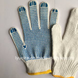 Safety Dotted Cotton Gloves PVC Dotted Gloves