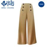 Fashion Women Custom Clothing OEM Design Loose Twill Pants