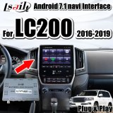 Lsailt Plug&Play Android 7.1 Multimedia Video Interface for Land Cruiser 2016-2019 LC200 with Built-in iPhone/Android Carplay
