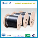 Single-Mode Single-Core Outdoor Steel Wire FTTH Optic/Optical Fiber Drop Cable with 1 Core and 2 Steel Wires