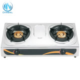 Home Appliance Tabletop Stainless Steel Two Burner Gas Cooker (DS-GSS201)