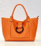 Wholesale Fashion Ladies Handbags Women Tote PU Bag with Bright Color Ring Trim Professional OEM