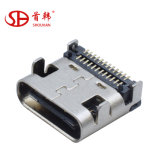 24pin Type C USB Female USB Connector with 24 Pin USB C Connector Double-Row 24 Pin Use in PCB Board