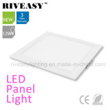 Electroplated Aluminum 12W White LED Panel Light