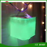 Cube Inflatable Solar Lantern IP65 10LED Solar Swimming Pool Lights Indoor Bedroom Colorful Emergency Solar Lamp Solar Camping Light