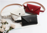 European Fashion Design PU Leather Ladies Money Bag Waist Belt