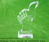 Customized Clear Acrylic Crystal Souvenir Medal Awards