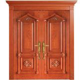 Oppein Antique Double Leaves Interior Wood Door (MSSS02)