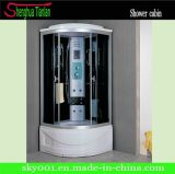 Popular Round Glass Combo Steam Shower Sauna Room (TL-8856)