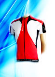 100% Polyester Man's Dyed Short Sleeve Cycling Jersey