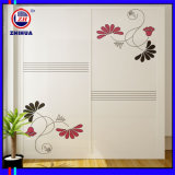 Flower Design Sliding Door Wardrobe (Zh076)