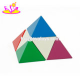 New Hottest 3D Triangle Blocks Wooden Pyramid Puzzle for Children Education W13e073
