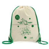 Promotional Recycled Cotton Canvas Backpack Drawstring Bag