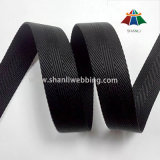 25mm Black 3 Twill Twisted Nylon Webbing From China Factory
