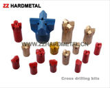 Tungsten Carbide Chisel /Cross Drill Bits for Pneumatic Rock Drill