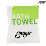 Wholesale 100% Cotton Disposable Portable White Bath Towel with Pearl Pattern for Outdoors