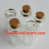 Small Mini Cork Bottle in Clear Glass (HVCB002)