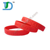 2017 Custom Debossed Logo Silicone Bracelet for Promotion