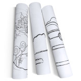 High Quality Self Adhesive Cartoon Zoo Drawing Paper Roll Stick on Wall