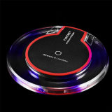 2018 Qi Fast Wireless Charger for iPhone X and Samsung Mobile Phone Crystal LED Wireless Charger