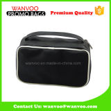 Portable Black Contents PU Makeup Bag Custom Logo with Zipper