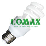 Half Spiral T3 7W~18W Compact Fluorescent Lamp Energy Saving Light