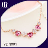 Hot Sale Elegant 925 Sterling Silver Rose Gold Jewelry Necklace