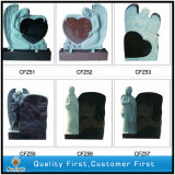 Factory Customized G664/Shanxi Black/G603/Aurora/G654/Bahama Blue/Multicolor Red Granite European Poland Style Carving Tombstone/Headstone/Monument for Memorial