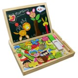 Customized Cute and Vivid Wooden Magnetic Easel Double Side Board Puzzle Games Toys for Kids