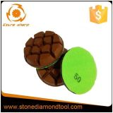 80mm Concrete Transition Resin Copper Bond Polishing Pads