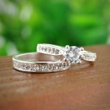 Crystal Jewelry Couple Ring for Lovers Size6 7 8 9