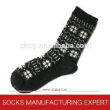 Lady′s Pattern Cotton Winter Socks