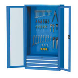 Popular Warehouse Steel Storage Cabinet with Glass Doors