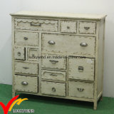 off-White Color Hot Sale Cabinet Antique Stylehot Sale with Drawers