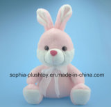 Soft Stuffed Plush Rabbit Toy in Pink Color for Children
