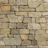 Natural Yellow Squar Shape Free Form Granite Stone Tiles