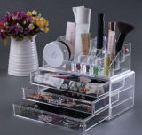 Clear Plastic Acrylic Doll Makeup Cosmetic Jewellery Display Case