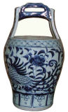 Chinese Blue and White Porcelain Bucket Lw028