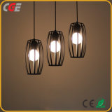 Wrought Iron Simple Modern Pendant Lamp and Dining Room Light Cafe Lamp Three Heads Chandeliers Hotel Lighting