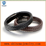 Men Leather Bracelet and Cords with Stainless Steel Buckle Bracelet (BL2862)